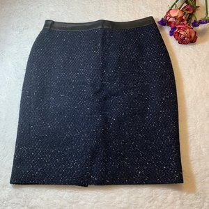 Ann Taylor Blue Pencil Skirt Size 2P
